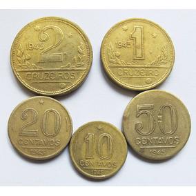 Moeda 1945 Série 10 Centavos A 2 Cruzeiros