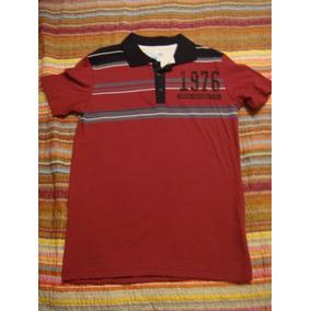 Blusa Gola Polo Vermelha Tam. 10 Anos Menino Infantil