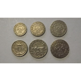 Moedas De 100, 200, 300 E 400 Réis De 1938 Sequencia