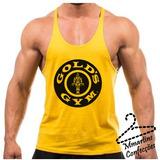 Regata Super Cavada Musculação Golds Gym Estampa Grande 7aa1f9a3026