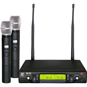 Microfone Sem Fio Staner, Sw-482 2 Microfones
