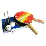 Kit Ping Pong Tênis Mesa Raquetes Rede Bolinhas Klopf #5030