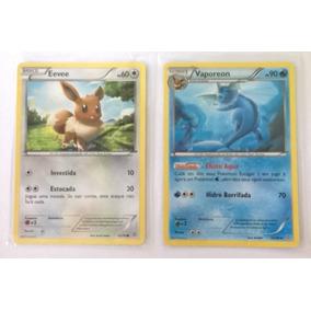 Cartas Pokémon Eevee E Vaporeon - Português