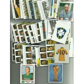 Lote 05 Figurinhas Brasil De Todas As Copas 1919 - 2014