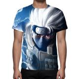 Camisa, Camiseta Naruto Kakashi Hatake - Estampa Total