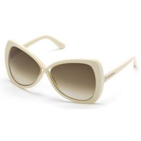 8007dbac81748 Óculos De Sol Tom Ford Aviador Creme Maximillion Ft206 25f - Óculos ...