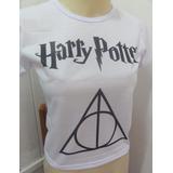 Baby Look Harry Potter - Relíquias Da Morte - 100% Poliéster