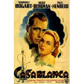Casablanca Bogart Bergman Henreid Itália Filme Poster Repro