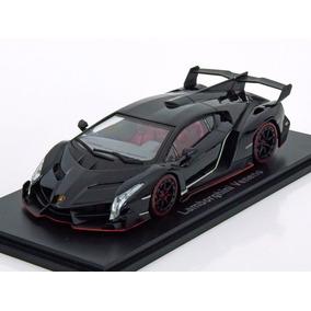 Miniatura De Lamborghini Veneno Preta 1:43 Kyosho 05571bkr