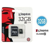 Kingston Micro Sd 32 Gb Con Adaptador Sd Clase 10 (gadroves)