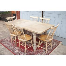 Mesas Y Sillas Segunda Mano Comedor - Muebles Antiguos en Mercado ...