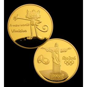 Moeda Medalha Mascote Vinicius Olimpiadas Rio 2016 - Frete 2