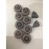 8 Rodas Para Patins 72mm Com 2 Freios