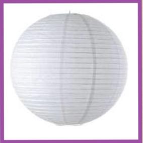 10 Pantalla Lampara China Blanca De Papel 40 Cm
