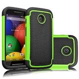 Motorola Moto E Case, Tekcoo (tm) [serie Tmajor] [verde / Ne