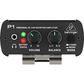 Behringer P1 Amplificador De Monitor Personal In Ear C/adapt