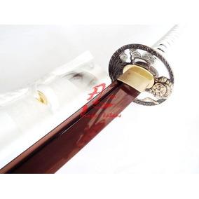 Espada Katana Para Corte Tameshigiri Afiada Aço Vinho 9260