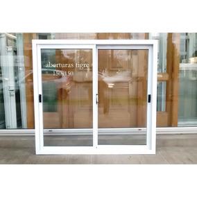 Ventana De Aluminio Blanco 150x150 Cm Vidrio Entero