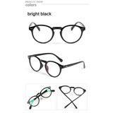 9d7ba51a89a4e Armação Óculos D Grau Acetato Redondo Masculino Feminino Bo