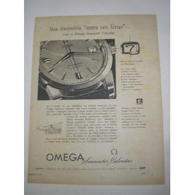 a5ea71b43f1 Propaganda Relogio Omega Publicaco Revista - Coleções e Comics no ...