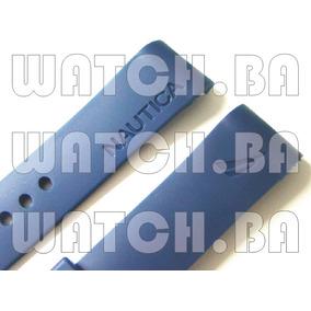 Pulseira Relógio Nautica 22mm Borracha - Azul Marinho - Nova