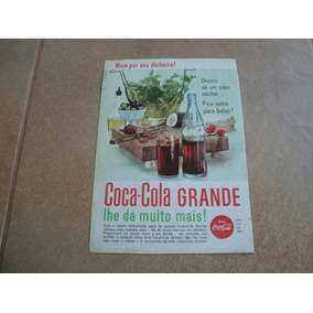 Propaganda Antiga Bebidas Coca Cola 1962 Refrigerante 3