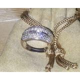Hermoso Anillo En Diamantes Y Oro Blanco 14kt