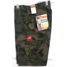 Wrangler Cargo Short Camouflage Verde - Nuevo C/etiquetas