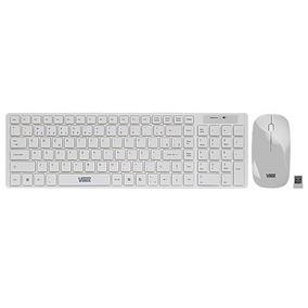 Kit Teclado Mouse Ultra Fino Usb S/ Fio Branco Cmw100 Vinik
