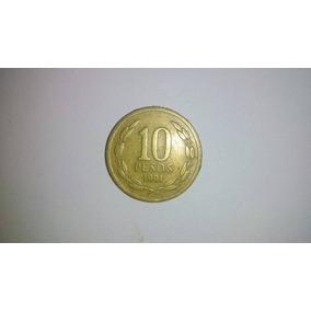 Moeda 10 Pesos Chile 1981