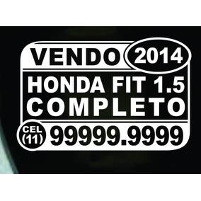 Kit 03 Adesivos Vendo / Vende-se Veículo - Carro (trio).
