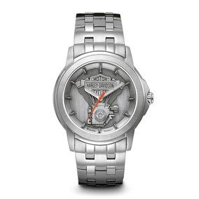 Reloj Harley Davidson Acero Luminiscente Envió Gratis 76a021