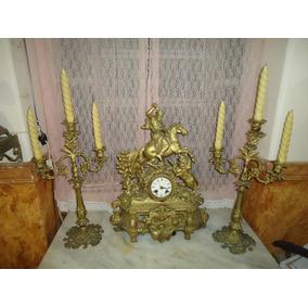 Enorme Garniture Relogio Castiçais Do 1800 Original Jpgyn