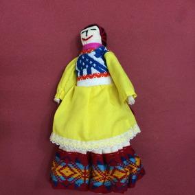 Boneca Típica Do Perú, 24 Cm De Altura