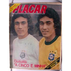 Revista Placar N- 164 Flamengo Flu Botafogo Clodoaldo Santos