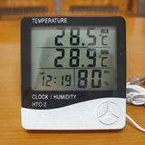 Reloj Termometro Higrometro Humedad Ambiente Htc-2 Con Sonda