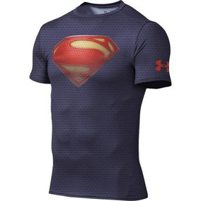 Playera Superman Under Armour Hombre Chica Envió 24 Horas