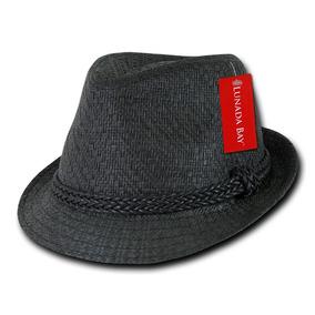 Sombrero Fedora Negro Tejido Decky 557 Porkpie Bombin Casual 98548be5b00