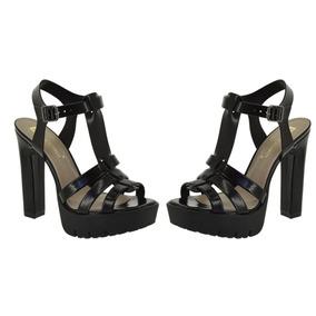 b49dd9f09 Sandalia Charmosa Chic Preta Di Cristalli - Sapatos no Mercado Livre ...