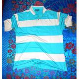 57ef8abdf8c Camisa Pólo Boreli Azul cinza Tam G Nova
