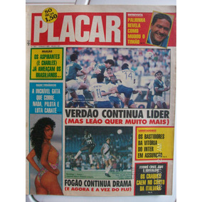 Revista Placar 987 Palmeiras Vasco Botafogo Inter S. André