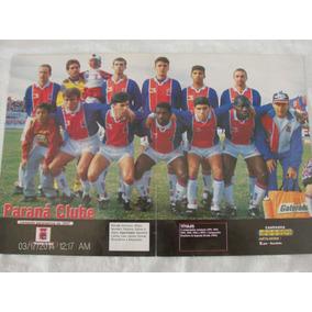 Poster Placar Paraná Clube 41x27 Campeão Paranaense 1997