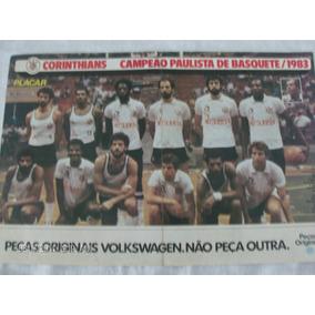 Poster Placar Corinthians 41x27 Campeão Paulista Basquete 83