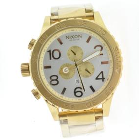 45c221549c1 Relogio Nixon 51 30 Dourado - Relógio Nixon Masculino no Mercado ...