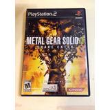Juego Ps2 Metal Gear Solid 3