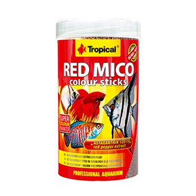 Ração Para Peixes Tropical Red Mico Colour Sticks 32g 100ml