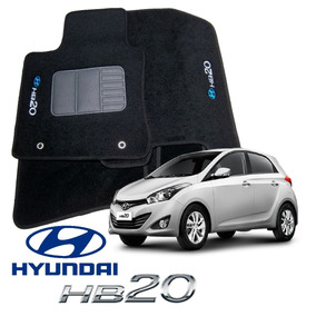 Tapetes Hyundai Hb20 Bordado As Logomarcas Originais