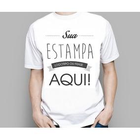 Camiseta Personalizada - Camisetas Manga Curta no Mercado Livre Brasil 03c7a0f8df9