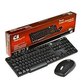 Teclado E Mouse Sem Fio K-w600bk - C3tech