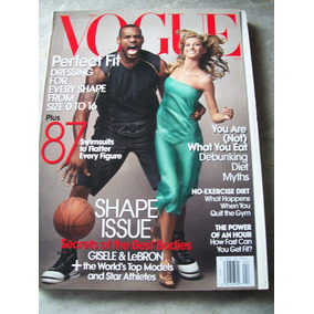 Revista Vogue Americana - Gisele Bundchen, Lebron - 04/08
